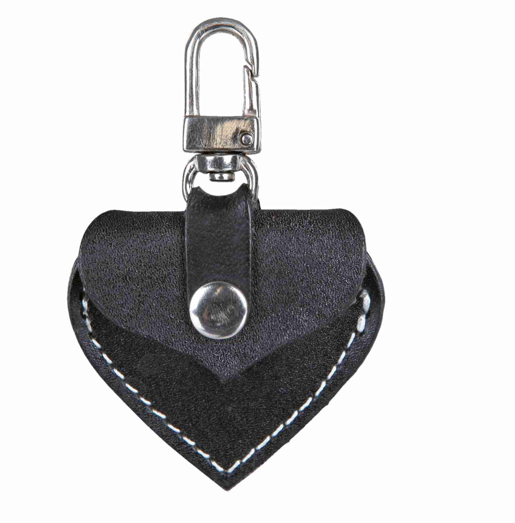 TRIXIE Adressanhänger, Leder TRIXIE Adressherzchen, 5,5 × 5 cm, schwarz
