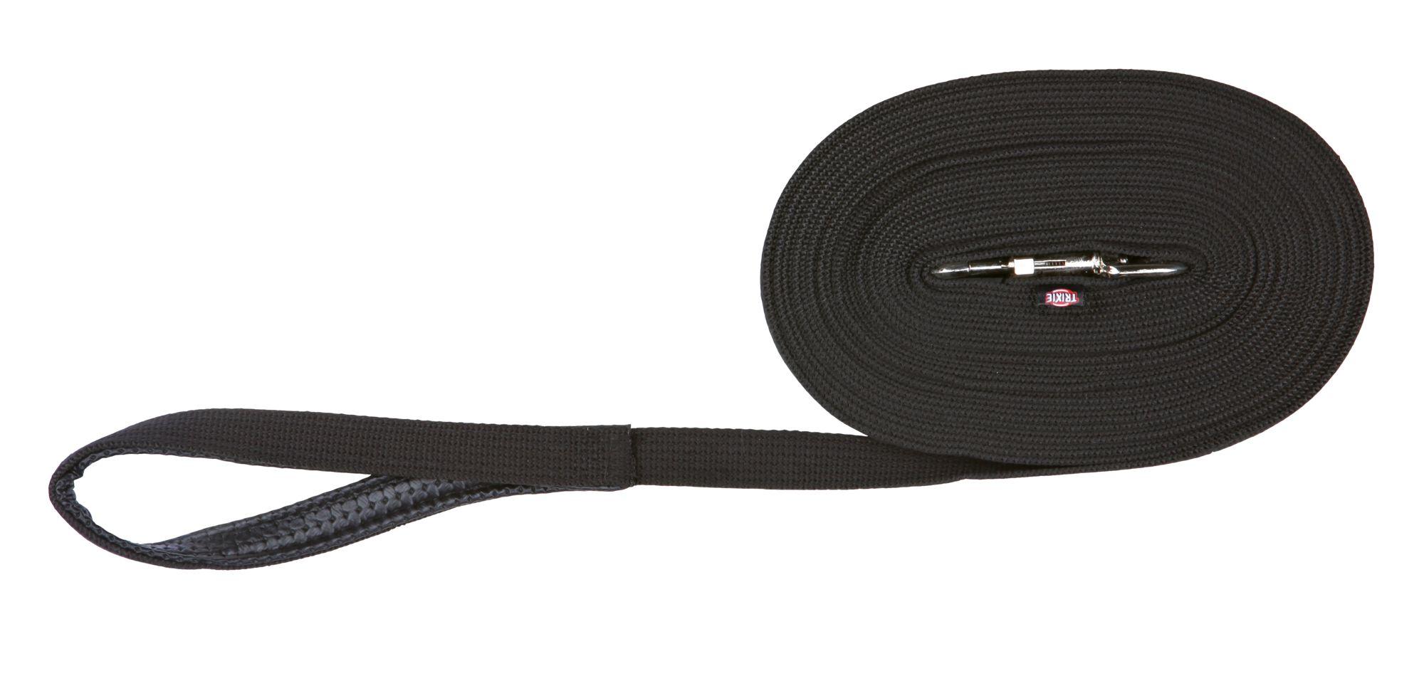 TRIXIE Schleppleine, Gurtband TRIXIE Schleppleine, Gurtband, 5 m/20 mm, schwarz