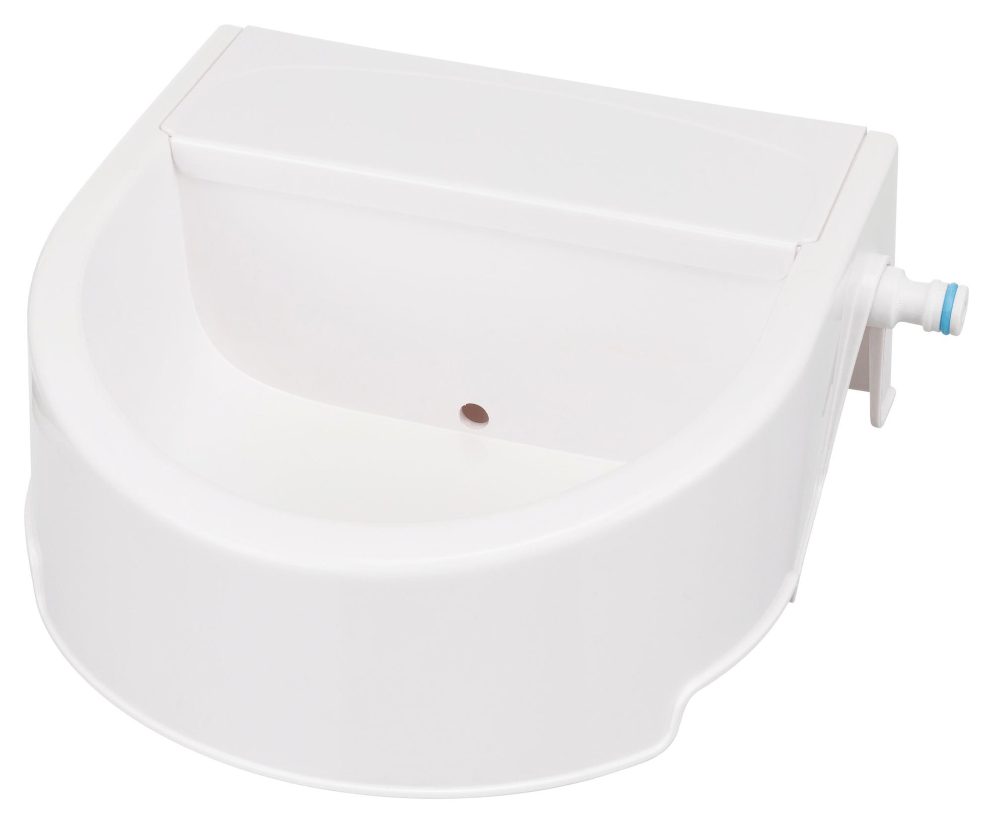 TRIXIE Automatische Outdoor-Tränke, 1,5 l/24 × 10 × 23 cm, weiß