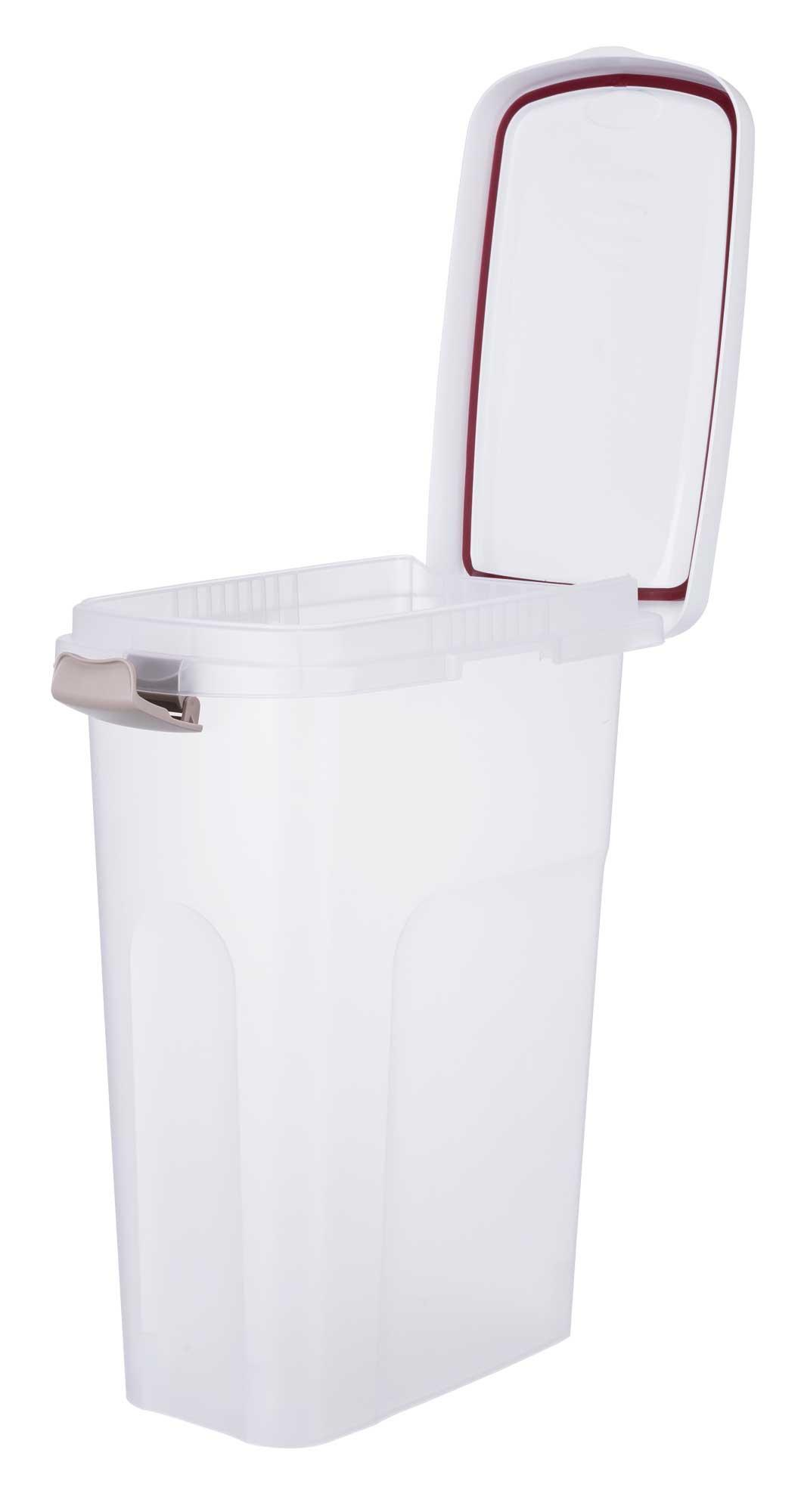 TRIXIE Futtertonne TRIXIE Tonne, luftdicht verschließbar, Kunststoff, 25 l/24 × 51 × 39 cm, transparent-we