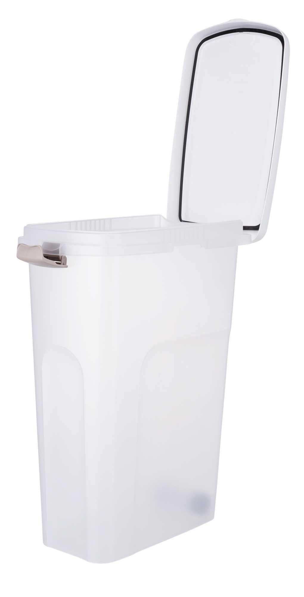 TRIXIE Futtertonne TRIXIE Tonne, luftdicht verschließbar, Kunststoff, 40 l/27 × 61 × 45 cm, transparent-we