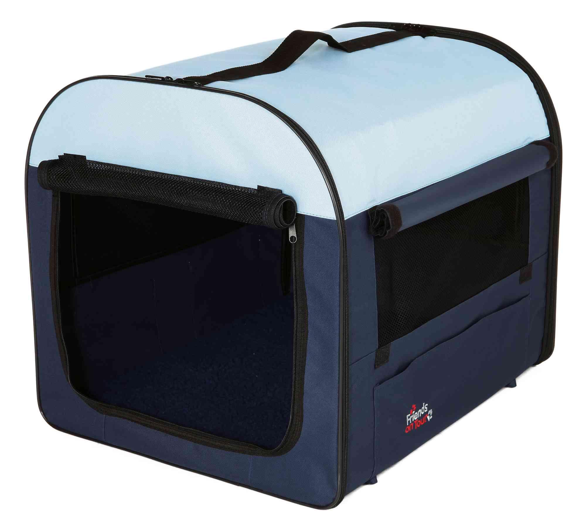 TRIXIE Mobile Kennel, dunkelblau/hellblau TRIXIE Mobile Kennel, XS–S: 40 × 40 × 55 cm, dunkelblau/hellblau