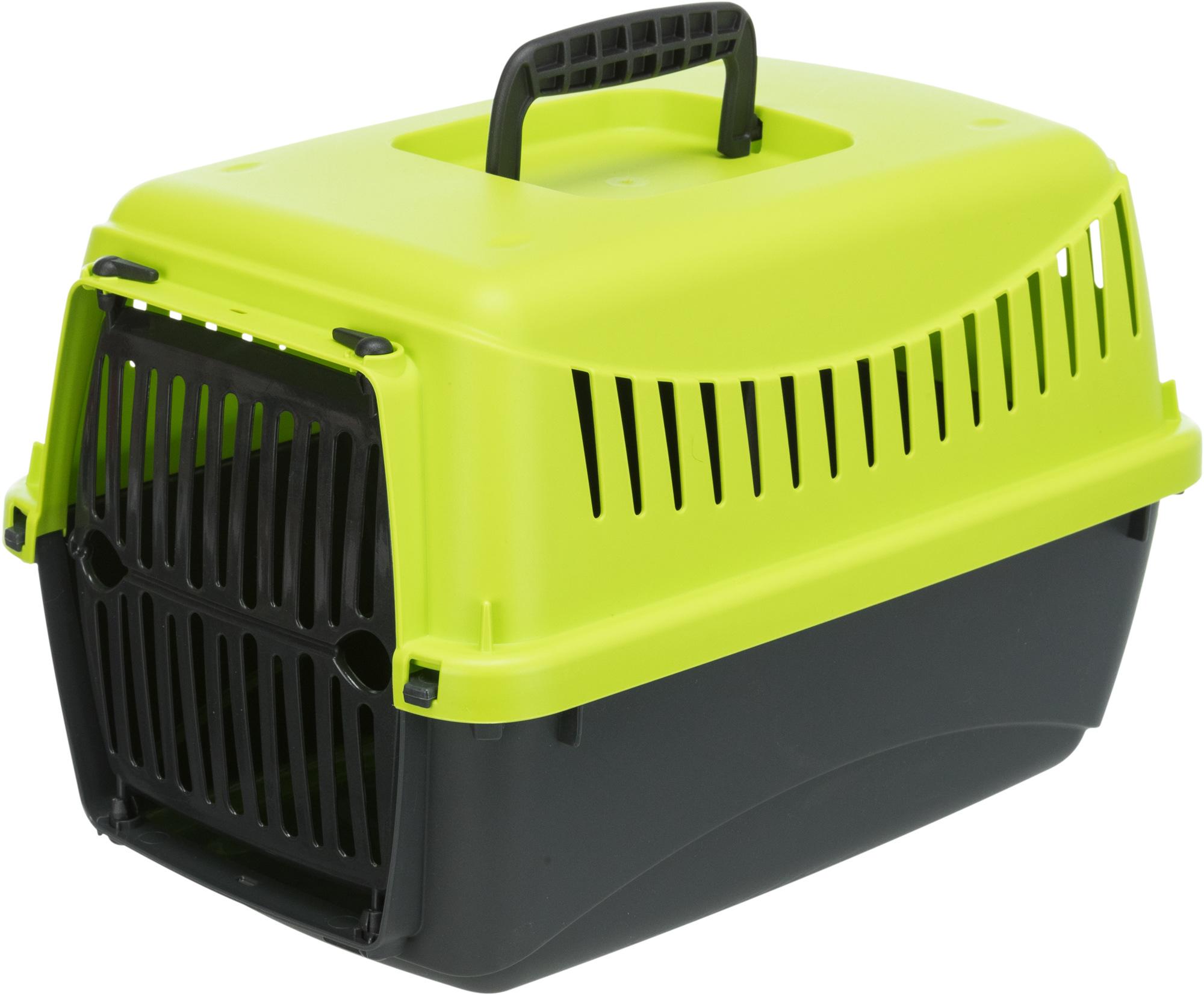 TRIXIE Transportbox Capri XS, XS: 26 × 25 × 39 cm, anthrazit/grün