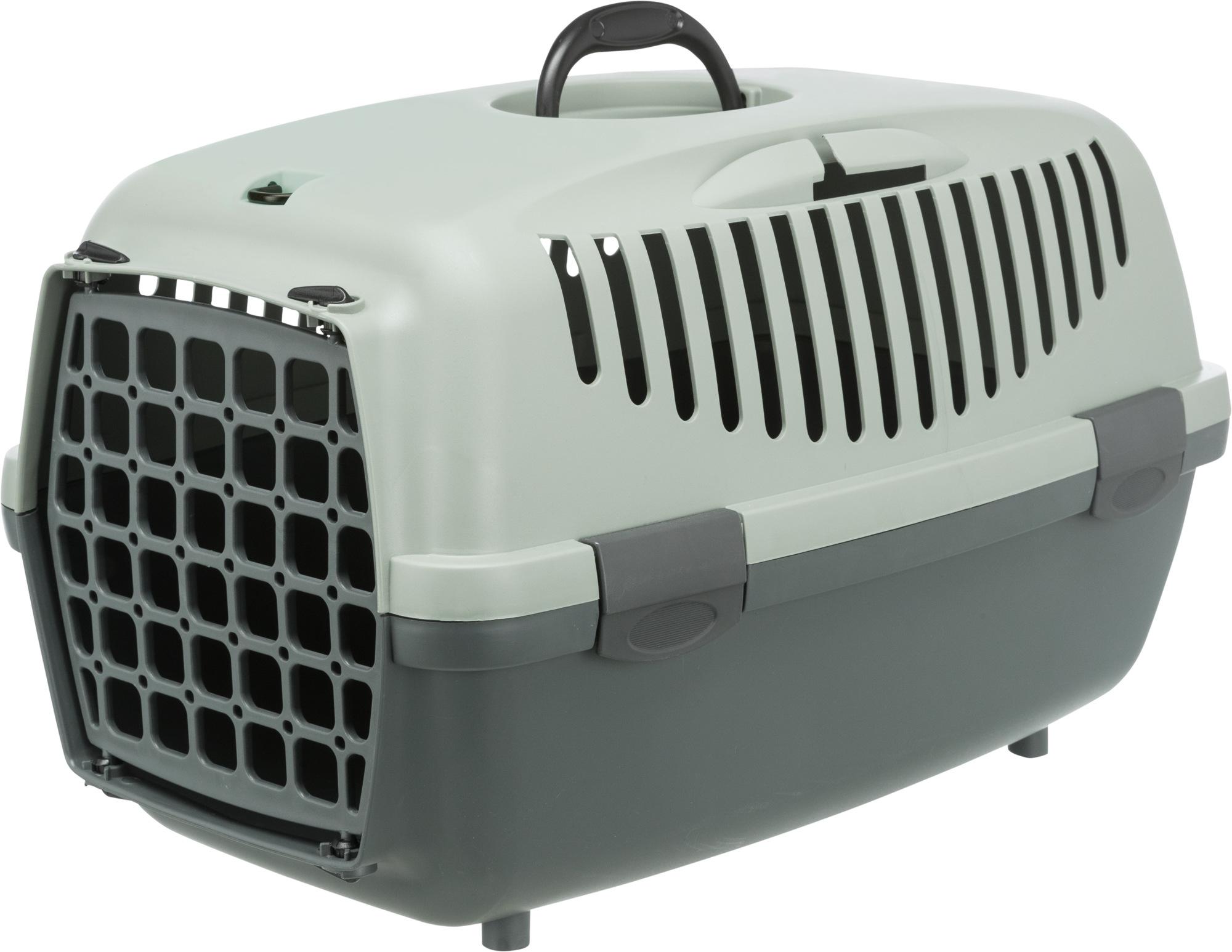 TRIXIE Be Eco Transportbox Capri 1, XS: 32 × 31 × 48 cm, anthrazit/grau-grün