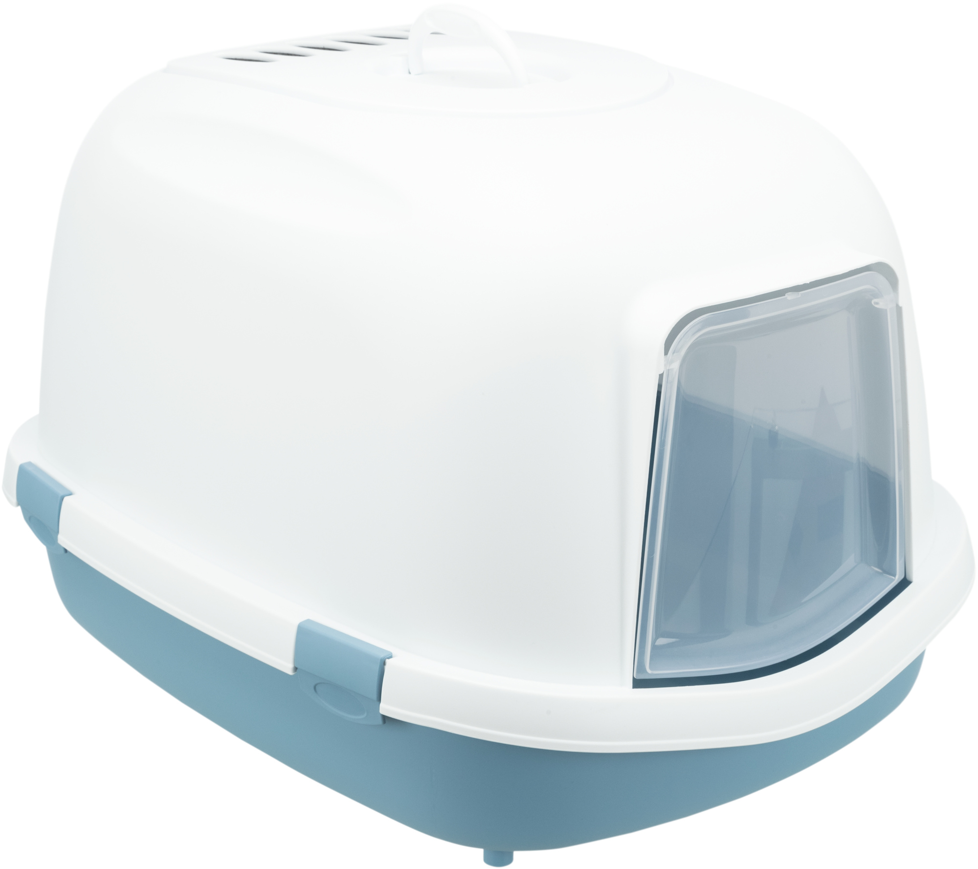 TRIXIE Katzentoilette Primo XXL Top, mit Haube TRIXIE Katzentoilette Primo XXL Top, mit Haube, 56 × 47 × 71 cm, blau/weiß