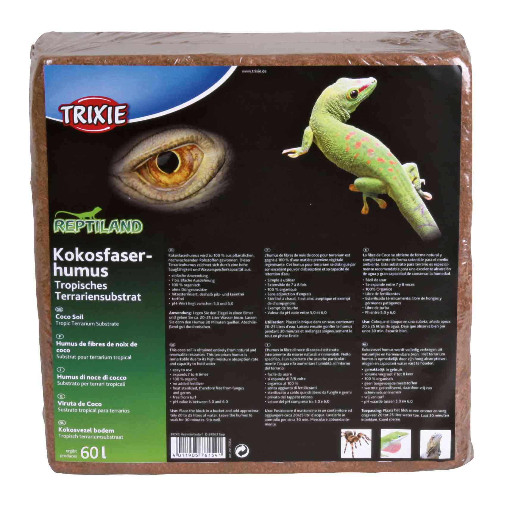 TRIXIE Kokosfaserhumus TRIXIE Kokosfaserhumus, Substrat, gepresst, ergibt 60 l