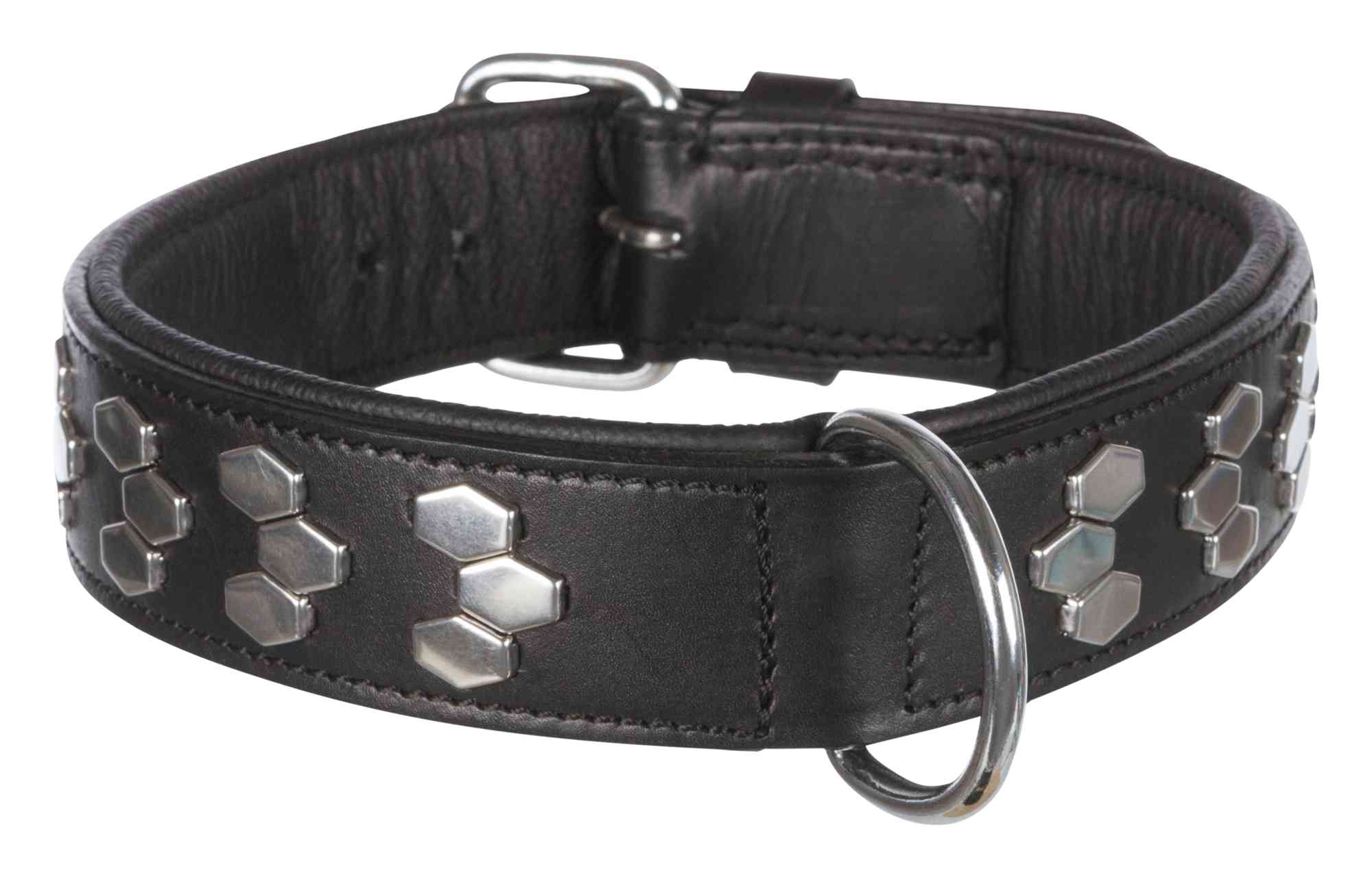 TRIXIE Active Halsband, extra breit, mit Applikationen TRIXIE Active Halsband mit Applikationen, Leder, M: 38–45 cm/40 mm, schwarz