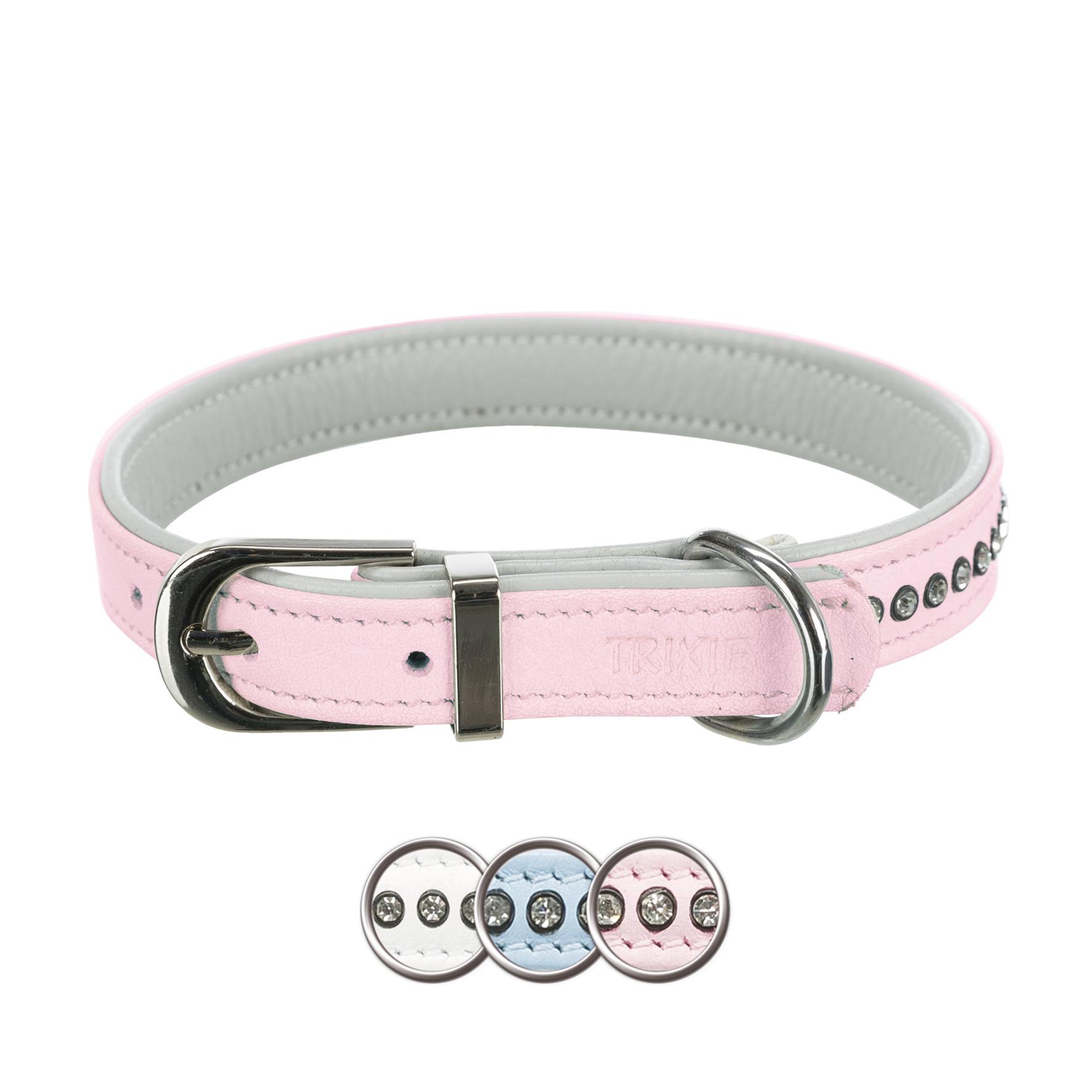 TRIXIE Active Comfort Halsband mit Strass, Leder TRIXIE Active Comfort Halsband mit Strass, Leder, XS–S: 20–24 cm/12 mm, hellblau
