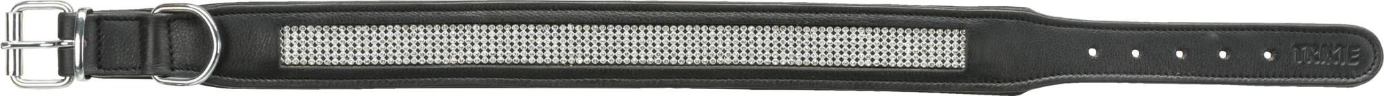 TRIXIE Active Comfort Halsband mit Strass, Leder TRIXIE Active Comfort Halsband mit Strass, Leder, L: 50–58 cm/30 mm, schwarz