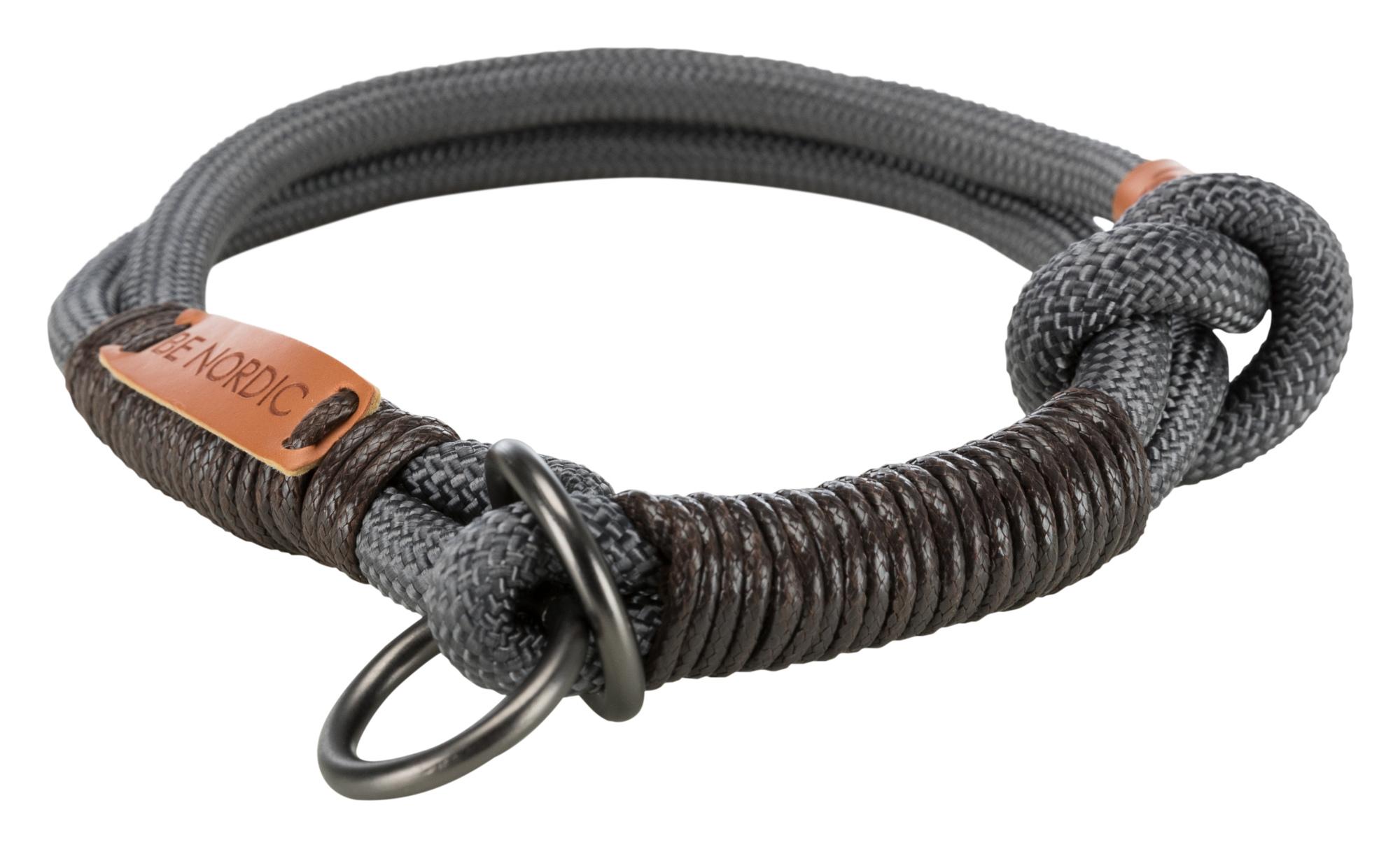 TRIXIE BE NORDIC Zug-Stopp-Halsband TRIXIE BE NORDIC Zug-Stopp-Halsband, S–M: 40 cm/ø 8 mm, dunkelgrau/braun