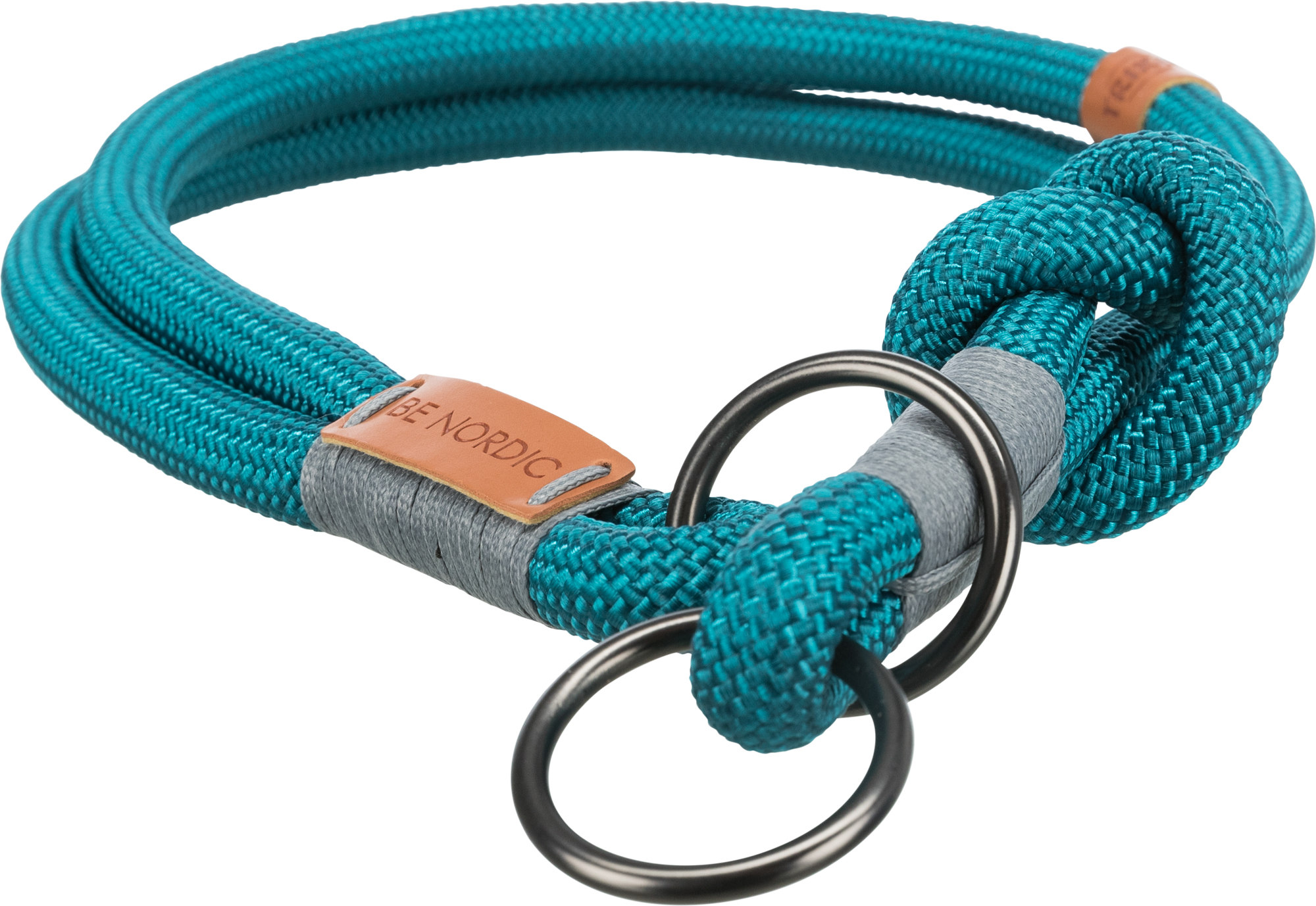 TRIXIE BE NORDIC Zug-Stopp-Halsband TRIXIE BE NORDIC Zug-Stopp-Halsband, XS–S: 30 cm/ø 6 mm, petrol/hellgrau