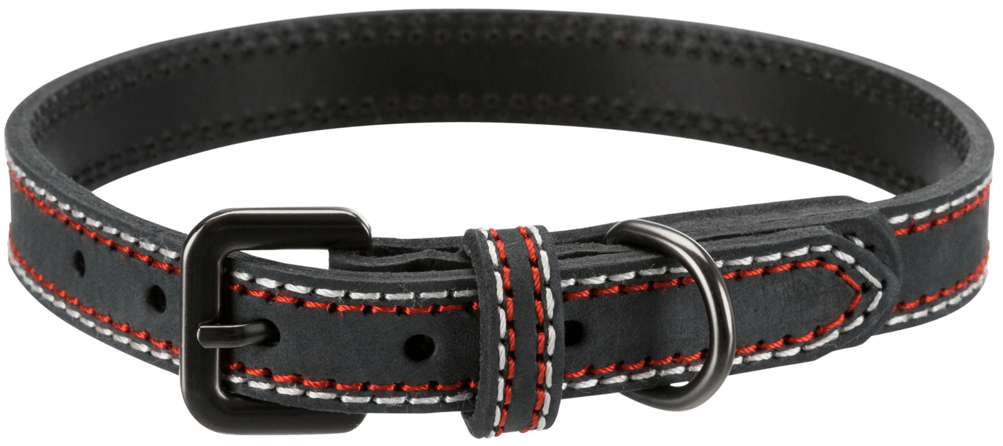 TRIXIE Native Halsband TRIXIE Native Halsband, Leder, L: 47–54 cm/25 mm, anthrazit