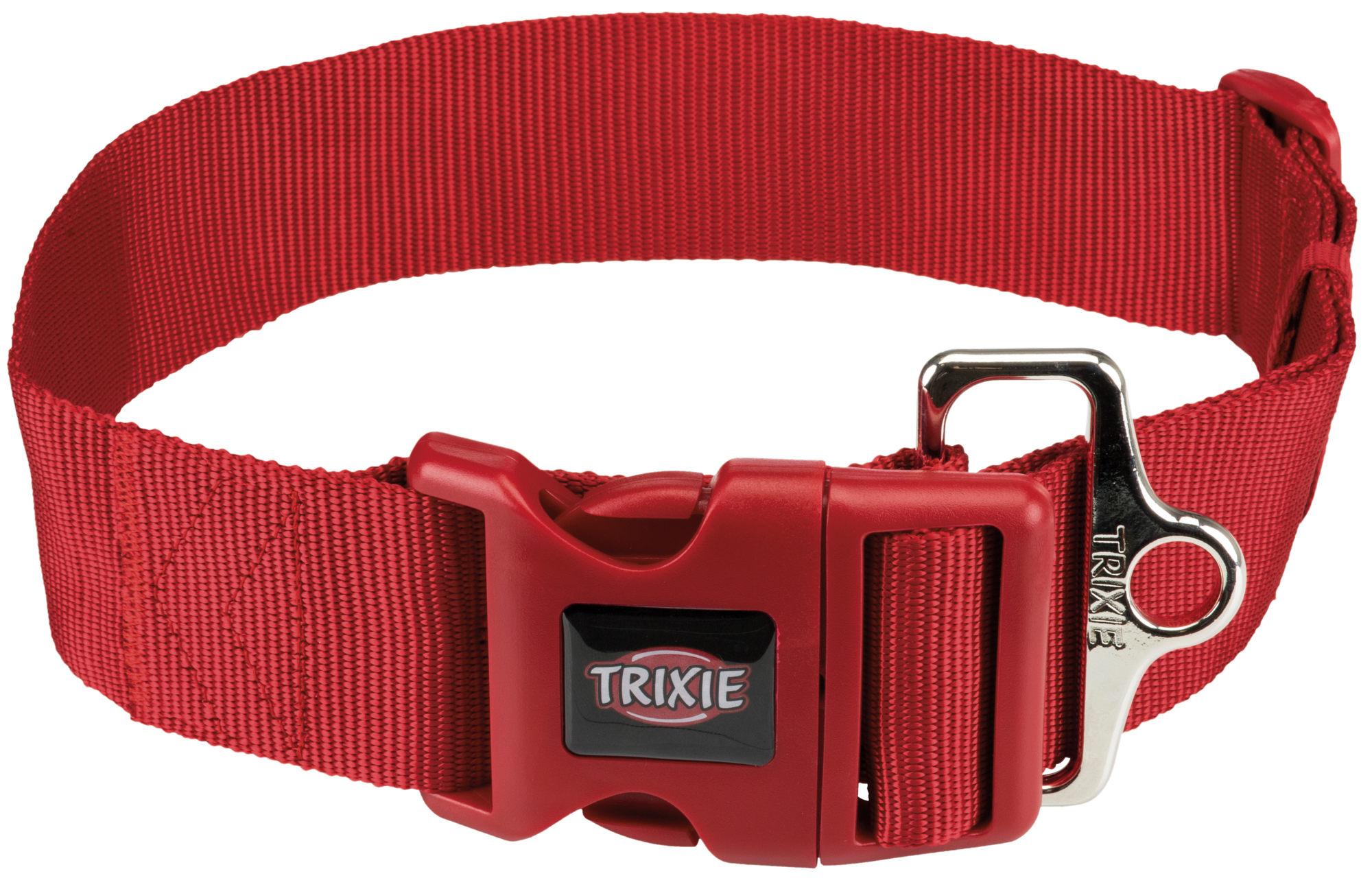 TRIXIE Premium Halsband, stufenlos verstellbar TRIXIE Premium Halsband, L–XXL: 55–80 cm/50 mm, rot