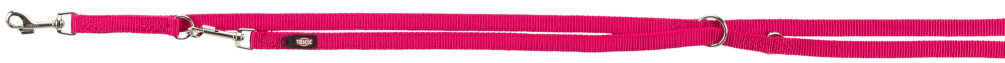 TRIXIE Premium V~Leine, doppelt TRIXIE Premium V-Leine, doppellagig, XS–S: 2,00 m/15 mm, fuchsia