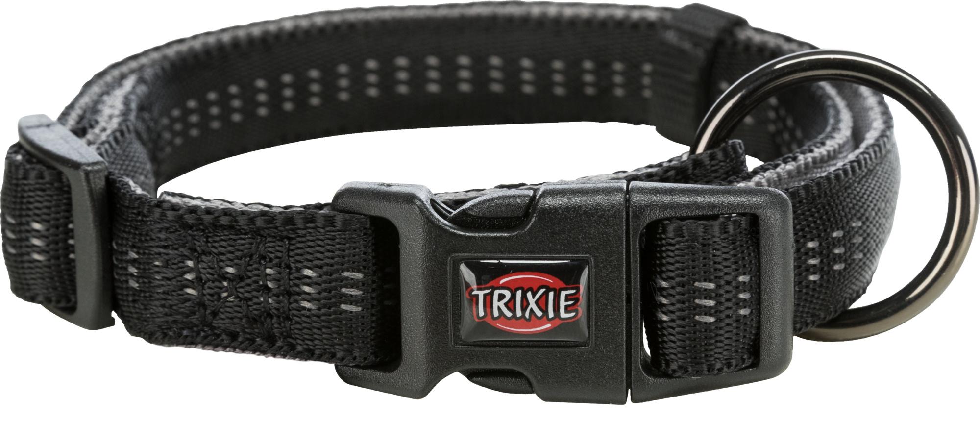 TRIXIE Softline Elegance Halsband TRIXIE Softline Elegance Halsband, S–M: 30–45 cm/15 mm, schwarz/grafit