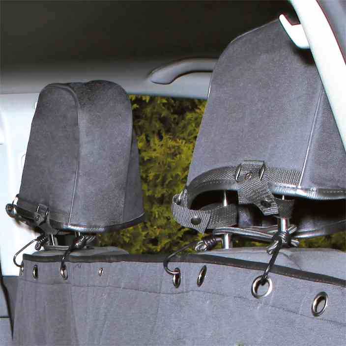 TRIXIE Auto-Schondecke, teilbar, 1,45 × 1,60 m, schwarz