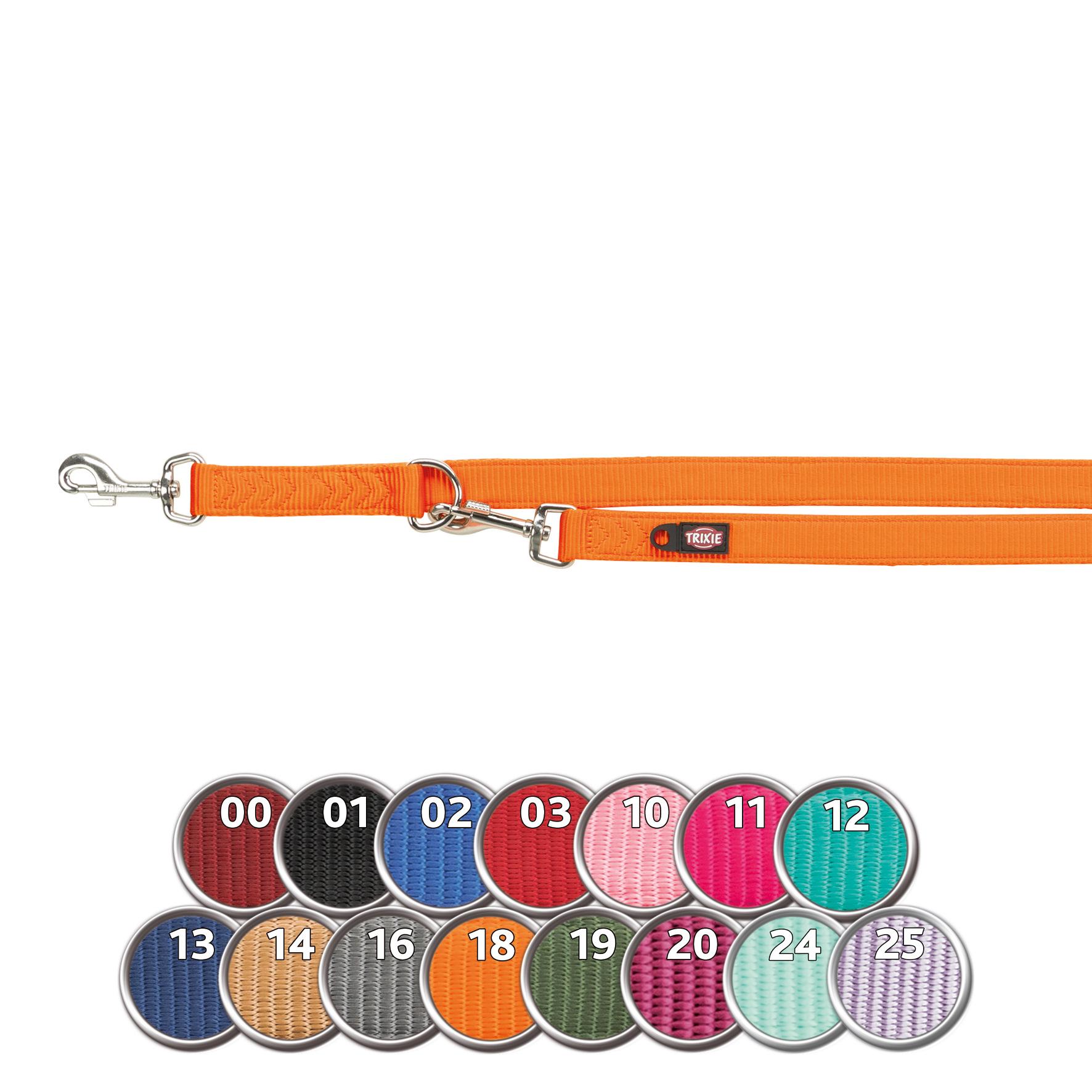 TRIXIE Premium V~Leine, doppelt TRIXIE Premium V-Leine, doppellagig, L–XL: 2,00 m/25 mm, koralle