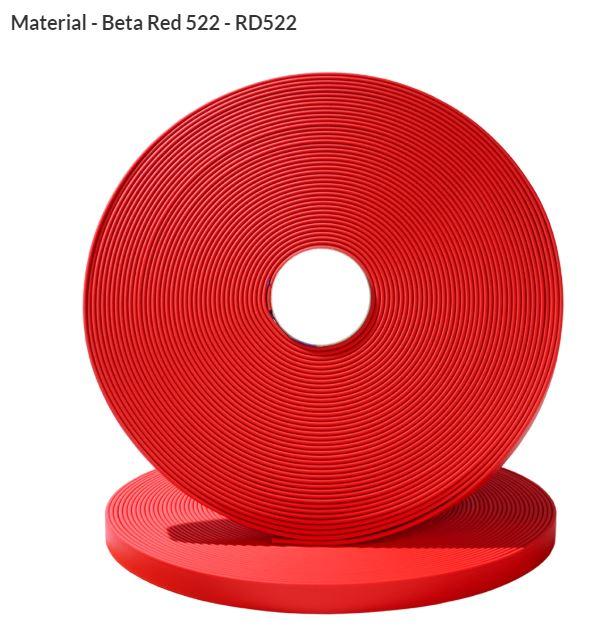 Original Biothane® Material / ganze Rollen  13mm rot (RD522)