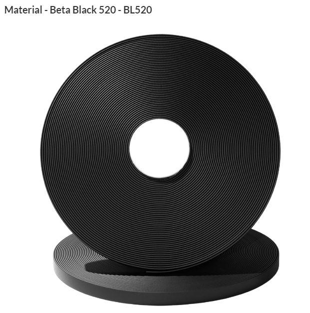 Original Biothane® Material / ganze Rollen  16mm schwarz (BL520)