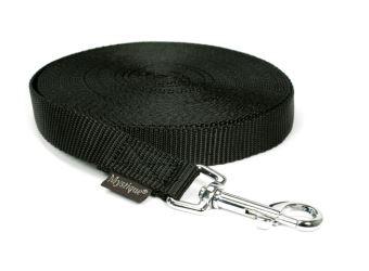 Mystique® Leinen Nylon 20mm  ohne Handschlaufe 15.00m schwarz