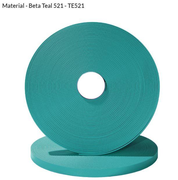Original Biothane® Material / ganze Rollen  19mm türkis (TE521)
