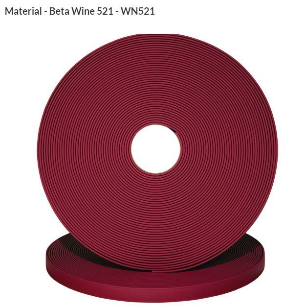 Original Biothane® Material / ganze Rollen  25mm weinrot (WN521)