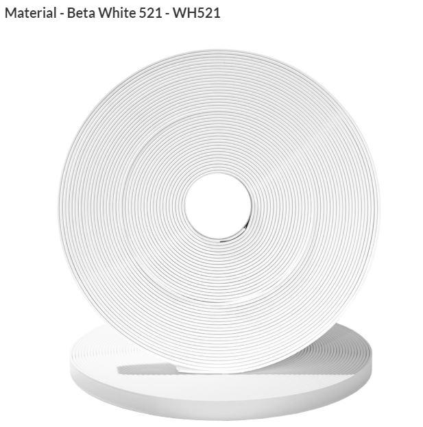 Original Biothane® Material / ganze Rollen  16mm weiß (WH521)