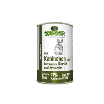 Schecker - Hundemenü - Kaninchen mit Buchweizen, Kürbis & Löwenzahn, 1x410 g