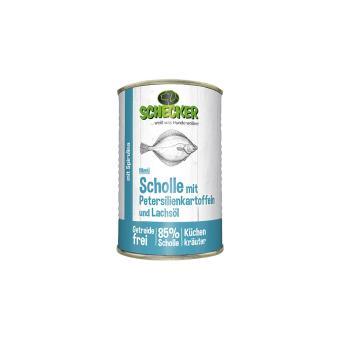 Schecker - Hundemenü - Scholle mit Petersilienkartoffel & Lachsöl, 1x410 g
