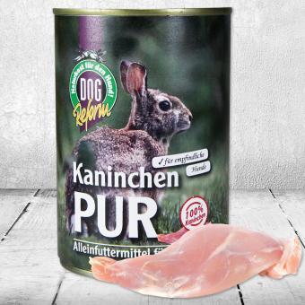 Schecker - Kaninchen - PUR, 1 x 410 g Dosenfutter, Hundefutter