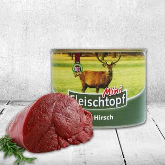 Schecker - DOGREFORM Fleischtopf-Mini mit Hirsch, 1 x 195 g