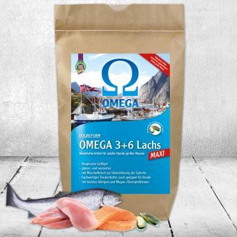 Schecker - Omega 3+6 Lachs MAXI, mit Geflügel und Muschelfleisch   - 3 kg