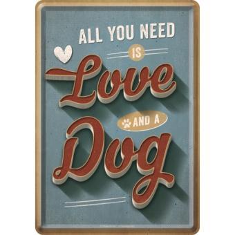 "PfotenSchild - Blechpostkarte ""Love Dog"""