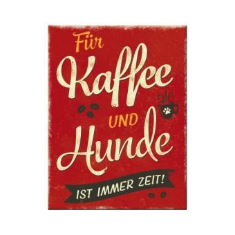 """PfotenSchild - Magnet """"Kaffee und Hunde"""""""