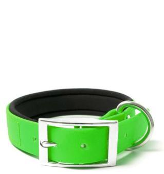 BIOTHANE® Halsband Deluxe Neopren (25mm) Neongrün 45 - 53 cm
