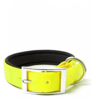BIOTHANE® Halsband Deluxe Neopren (25mm) Neongelb