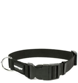 MYSTIQUE® Nylon Halsband (30mm) schwarz