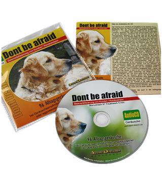 """Geräusch-CD """"Dont be afraid"""" (Desensibilisierung von Hunden & -welpen, 96 Geräusche)"""