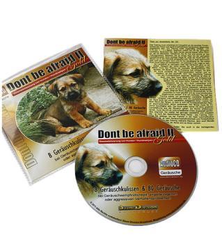 """Geräusch-CD """"Dont be afraid 2 Gold"""" (Desensibilisierung von Hunden & -welpen, 80 Geräusche)"""