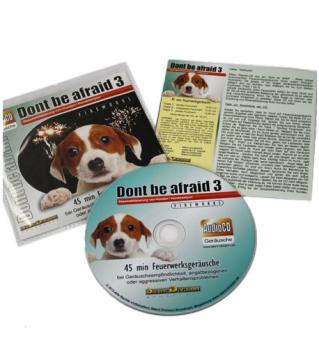 """Geräusch-CD """"Dont be afraid 3 - Fireworks"""" (Desensibilisierung von Hunden & -welpen, Feuerwerk)"""