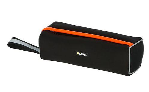 KERBL Snack-Dummy 23x7cm, schwarz/orange reflektierend, schwimmfähig, aus Neopren