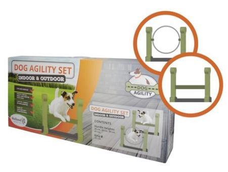 Dog Agility 2er-Set aus weichem Schaumstoff für drinnen und draußen