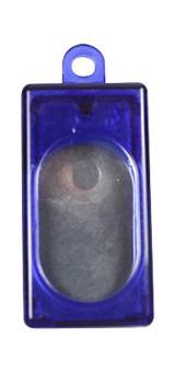 Kasten-Clicker (transparent) Blau