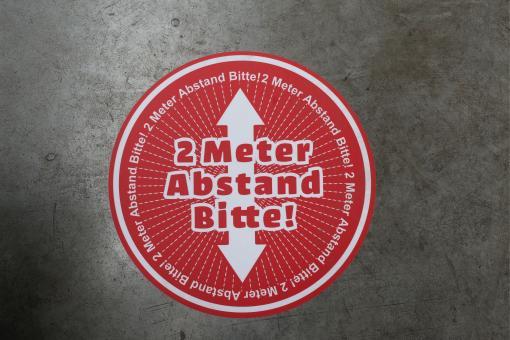 "Bodenaufkleber ""2 Meter Abstand Bitte"""