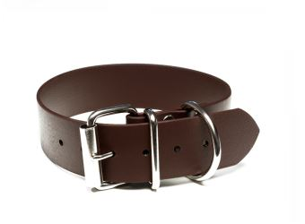 Mystique® Biothane® Halsband Klassik 32mm und 38mm breit  38mm |  40-48cm | braun