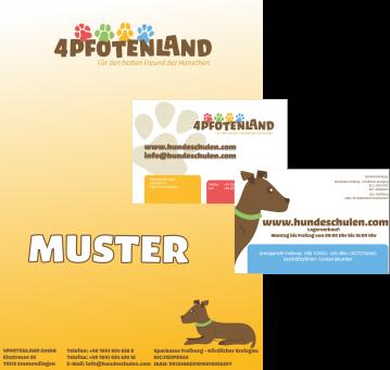 UNVERÄNDERTER FOLGEAUFTRAG - Briefpapier + Visitenkarten mit IHREM Logo (250 / 1000 St.)