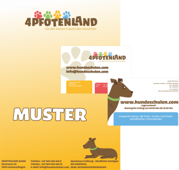 ERSTAUFTRAG - Briefpapier + Visitenkarten mit IHREM Logo (250 / 1000 St.)