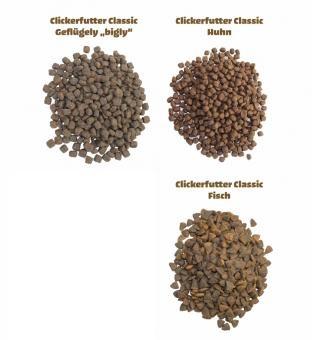 Clickerfutter CLASSIC 400g, 800g, 2kg; Huhn, Geflügel oder Fisch