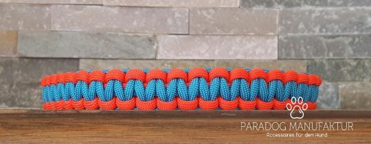 "Paracord Halsband ""Cobra"" 2-farbig / Baukasten"