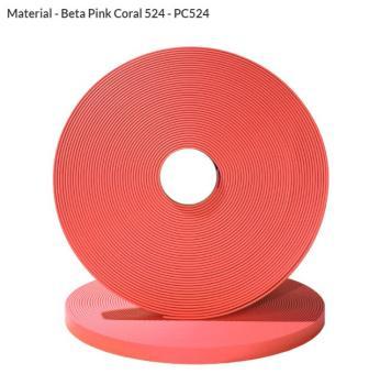 Original Biothane® Material / ganze Rollen  16mm   coral (PC524)